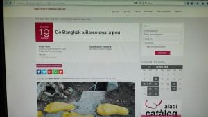 201802-Biblioteca Torras i Bages-De Bangkok a Barcelona, a peu-Anunci web1
