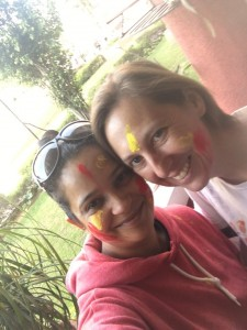Celebrating Holi with Namrita, our Gurgaon angel. We'll always keep thanking you for your kindness.