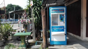 Affordable, clean and safe water dispensing machines are found all over cities.