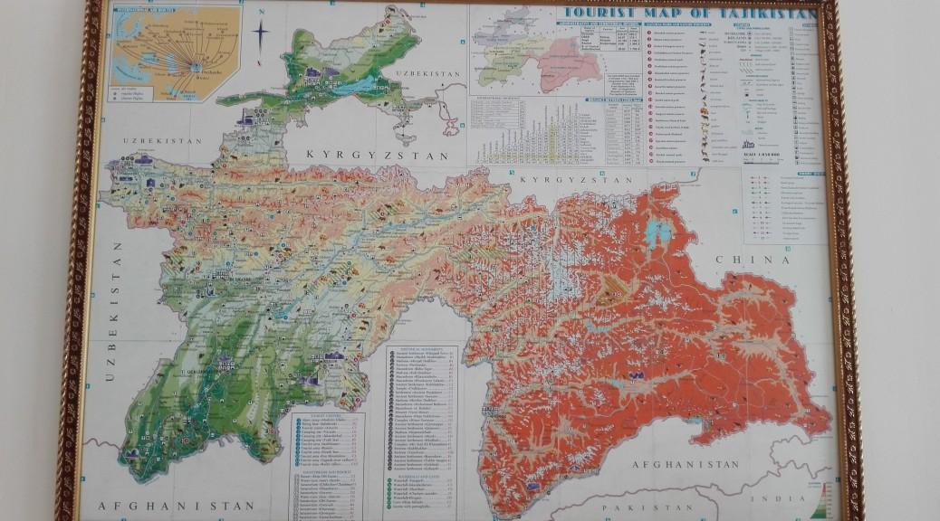 Mapa general de Tadjikistan