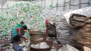 Reciclatge ampolles de plàstic. Selecció tipus de plàstic