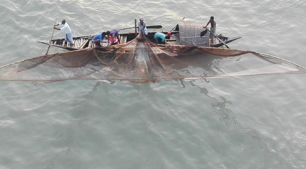 Pescant al riu Buriganga, Dacca