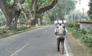 Lluís entrant a Índia
