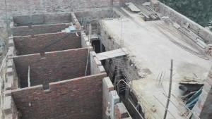 La casa en construcció. Vista superior