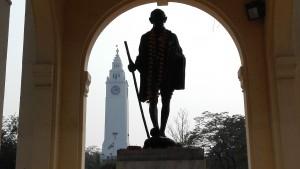 Gandhi i la torre de correus de Lucknow