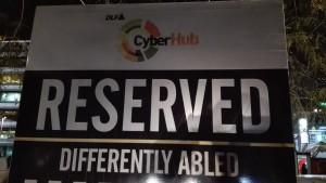 Aparcament a CyberHub