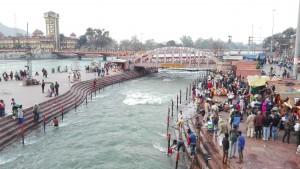 Persones fent els seus banys al Ganges