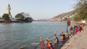 Ghat a l'entrada de Haridwar