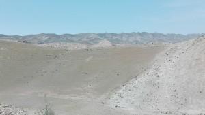 El final de la pujada ens deixa al pur desert