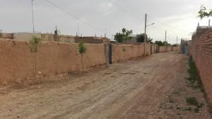 Un carrer típic, d'un poble típic entre Mashhad i Quchan