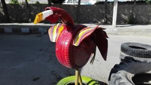 Reciclatge de pneumàtics amb art