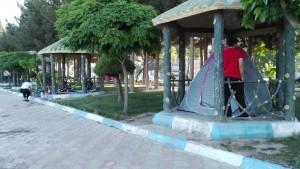 Acampada al parc Afarinesh