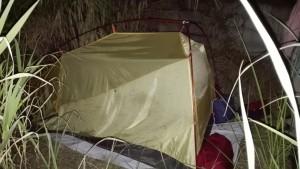 Camping near the beach