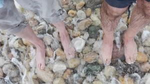 Revitalitzant bany de peus al mar Caspi