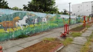 Equipaments per fer salut i 'pintades' habituals, avui a Chalus