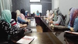 Compartint una classe d'anglès amb unes magnífiques estudiants