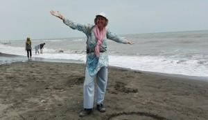 Estem MOLT contents i satisfets d'haver arribat fins a la platja d' Astara