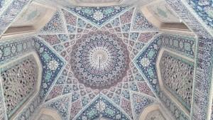 Detall ceràmica d'un sostre