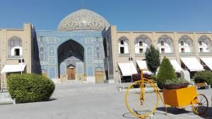 Plaça Naqsh-e Jahan, mesquita i bicicleta