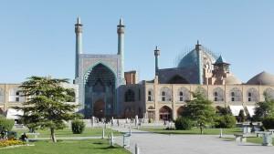 Plaça Naqsh-e Jahan, mesquita sense bicicleta, però amb minarets