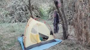 Acampant entre un núvol i catifa de pols, però acampant tranquil·lament