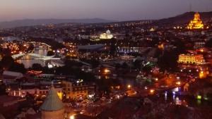 Centre de Tbilissi de nit