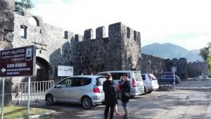 El 'castell' de Gornio (foto feta l'endemà, sense pluja)