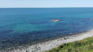 Aigua clara. Mar Negre? És ben blau (quan fa sol!)