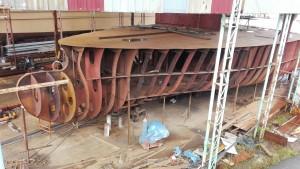 Construcció de vaixells. Esquelet de la base