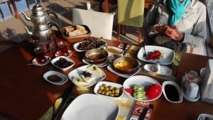 Un esmorzar de luxe, generosa invitació del propietari del bonic restaurant