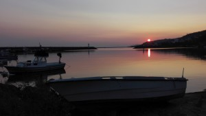 Preciosa sortida de sol al port