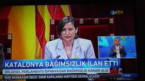Avui 27/10/2017 (data que esperem substituexi l'Onze de setembre), el Parlament de Catalunya, basant-se en el resultat del referèndum d'autodeterminació celebrat el passat 1 d'octubre, declara la independència i el neixement de la República Catalana