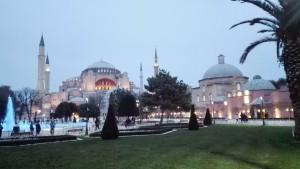 Museu Hagia Sofia i voltants pel vespre
