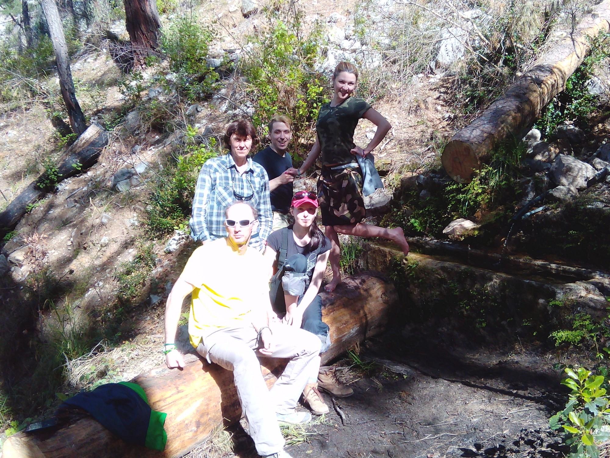 My angels who helped me on the trail: Vadik, Daria, Nadya, Kerell and Elena.