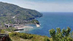 Finalment avui la boira desapareix i apareix la bonica costa, un petit port coquetó amb una gran sorpresa esperant-me