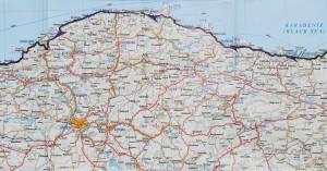 La nostra ruta a Turquia. Mapa detallat 2 de 3. Our route in Turkey, regional, detailed map 2 of 3.