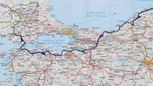 La nostra ruta a Turquia. Mapa detallat 3 de 3. Our route in Turkey, regional, detailed map 3 of 3.
