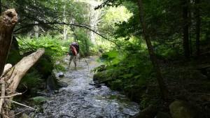 Jenn, valenta, creua el riu pel mig