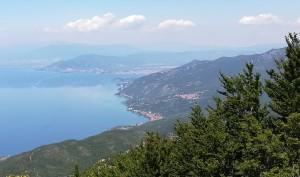 Llac Ohrid amb Ohrid de rerefons