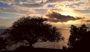 Posta de sol al llac