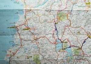 Mapa de la nostra ruta a peu per Macedònia, 2 de 2 / Map of our walking route in Macedonia, 2 of 2