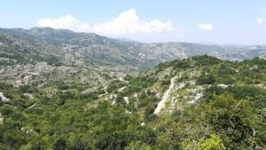 Paisatge després de Cetinje. Això és el que hem estat caminant tot el dia