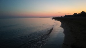 Posta de sol a la platja de Lignano