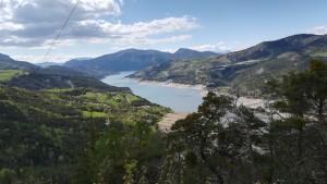 Llac on es troben el riu Ubaye i el Durance
