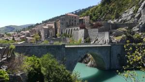 Sisteron i el riu Durance