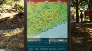 Mapa del Parc Natural del Montnegre i el Corredor
