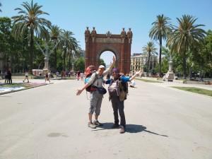 Barcelona. Comencem a celebrar el nostre gran triomf, a l'Arc de Triomf