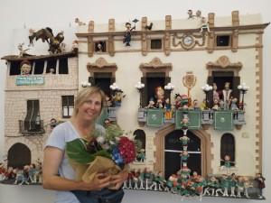 Jenn molt feliç per haver assolit aquest repte brutal, i per rebre aquestes boniques flors, regal de la seva gran amiga Vivian