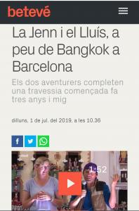 La nostra aparició a la televisió de Barcelona, Betevé