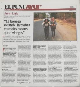 Entrevista publicada al diari El Punt Avui